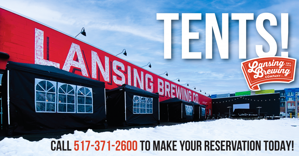 Tents at Lansing Brewing Company