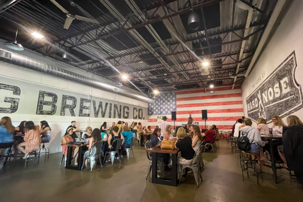 Host your holiday parties at Lansing Brewing Company in the Stockhouse. The Stockhouse can fit 50 to 240 people for your event in Lansing.